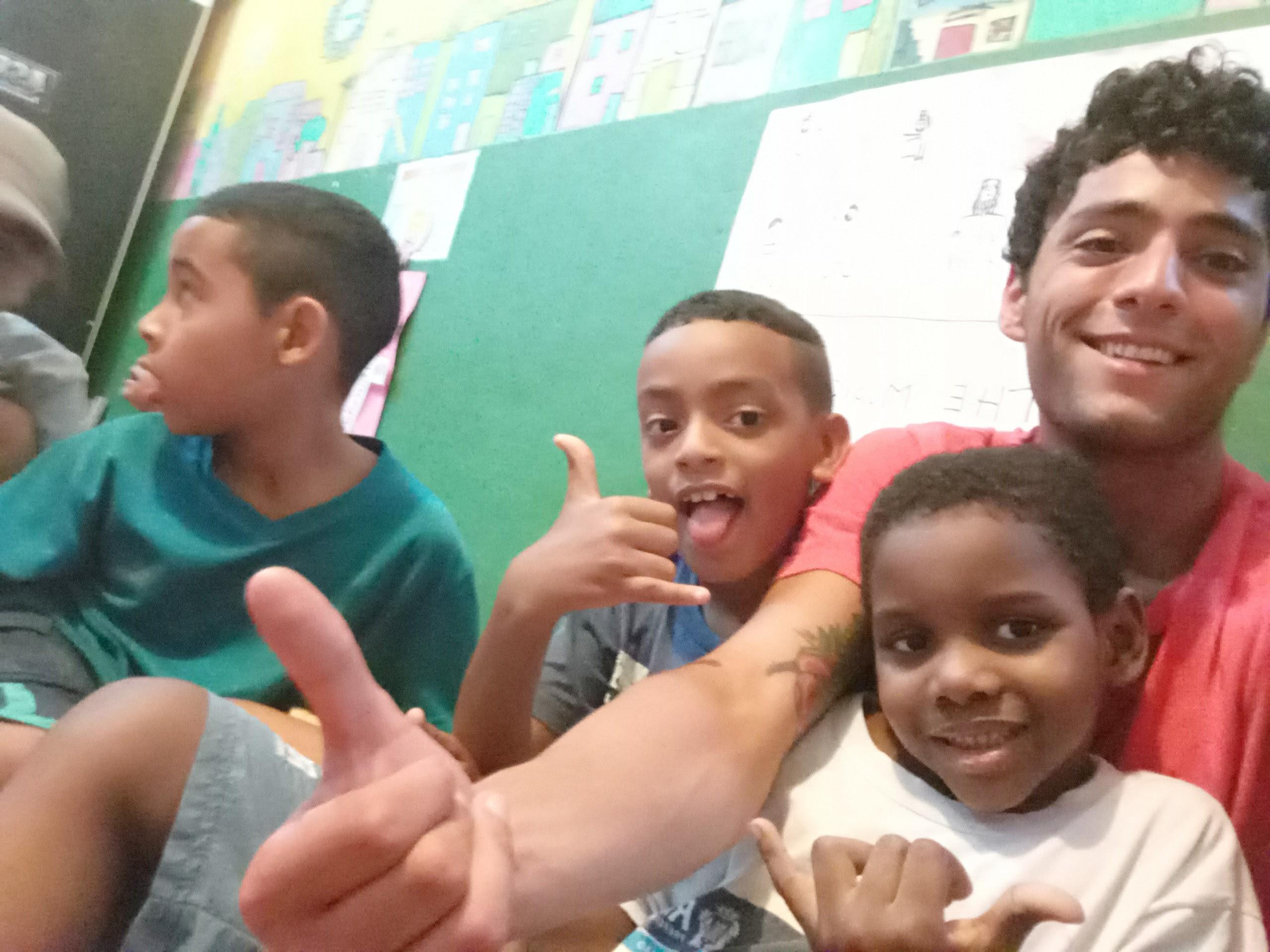 אני והתלמידים שלי