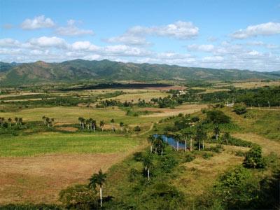 נוף העמק, טרינידד, קובה